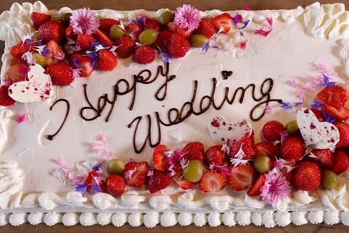 Y邸にてウェディングパーティ用ケーキケータリング イメージ1